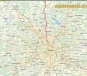 Карта Москвы и шоссе Дмитровское
