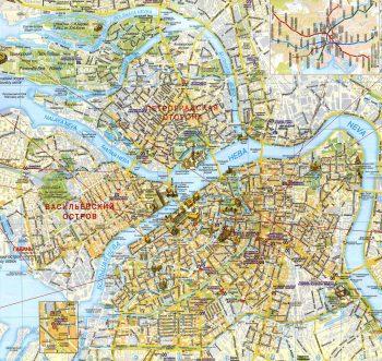 Подробная карта Санкт Петербурга